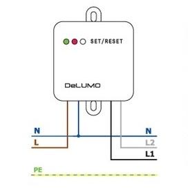 DeLUMO Схема подключения (для жалюзи)