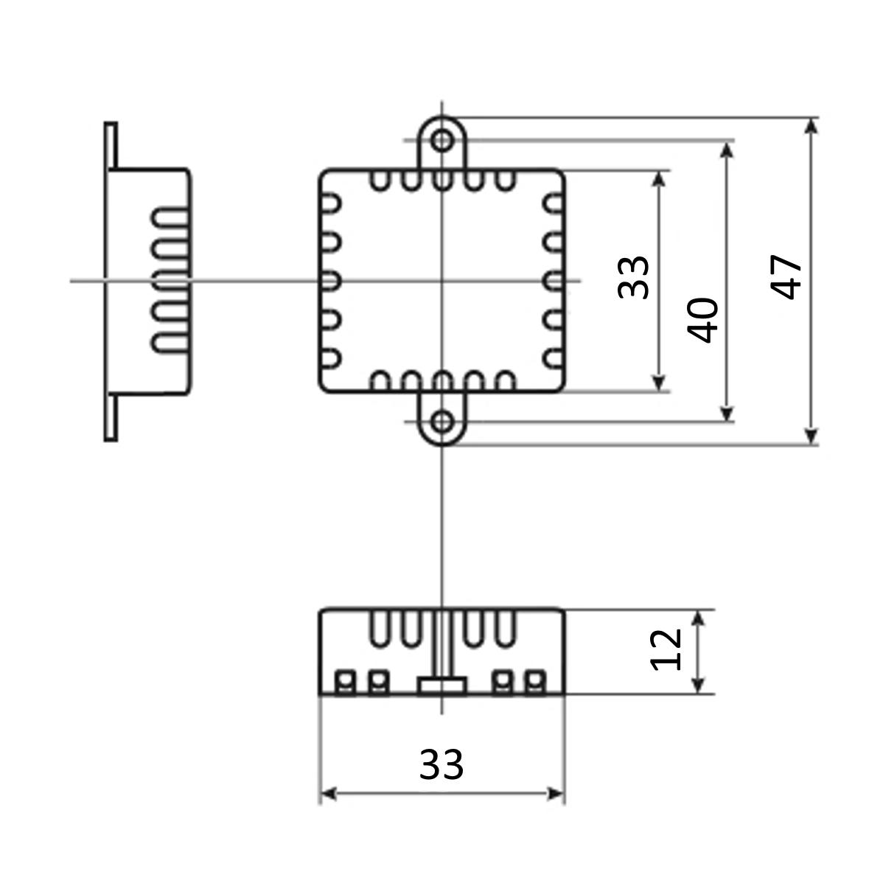 Размеры монтажного пульта  PK-315