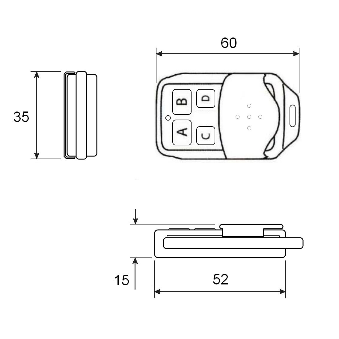 Пульт-брелок nooLite PN-411 (схема)