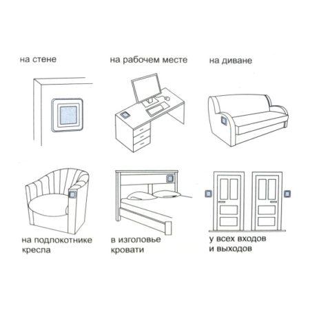 Примеры для установки беспроводного выключателя света