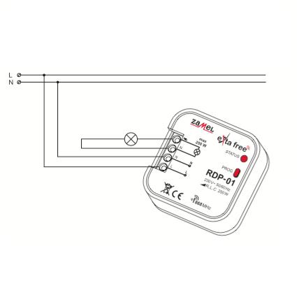 Zamel RDP-01 (схема подключения)