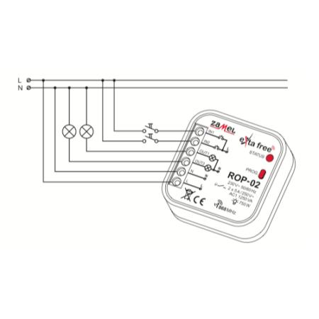 Zamel ROP-02 (схема подключения)