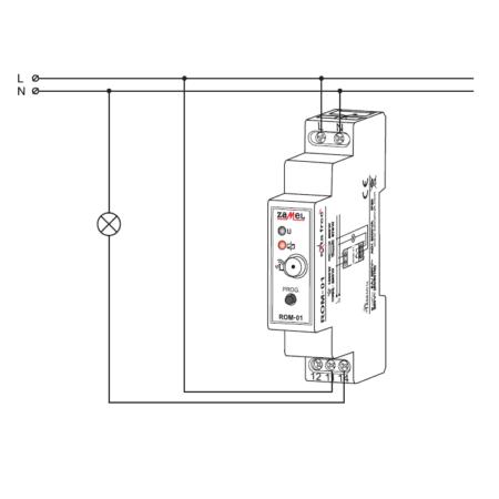 Zamel ROM-01 (схема подключения)
