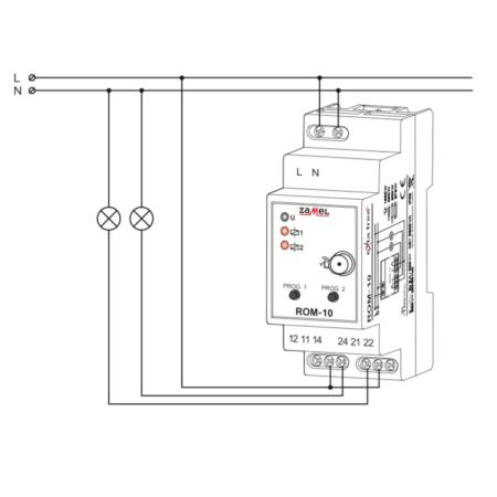 Zamel ROM-10 (схема подключения)