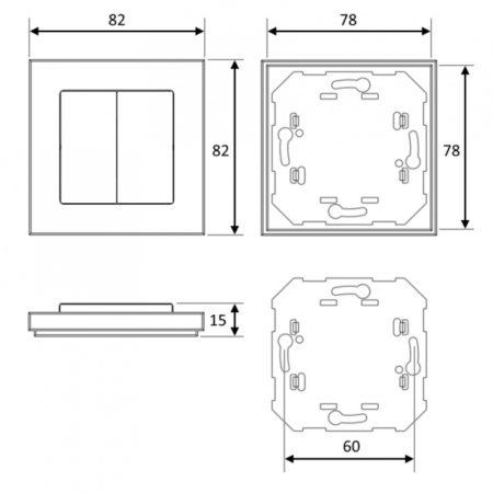 nooLIte PB212_PG212_PB412_PG412_размеры