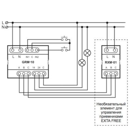 Zamel GRM-10 (схема подключения)