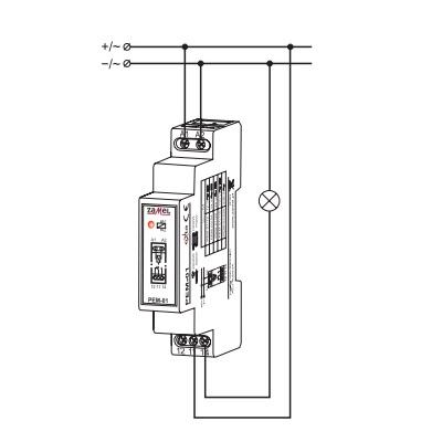 Zamel PEM-01-230 (схема подключения)